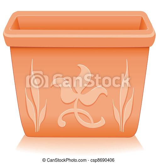 Flowerpot Planter, Floral Designs - csp8690406