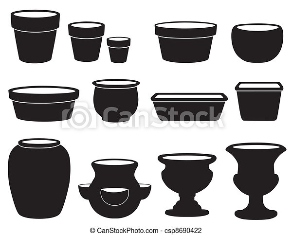 Flowerpots and Pottery - csp8690422