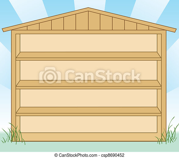 Storage shed with Shelves - csp8690452