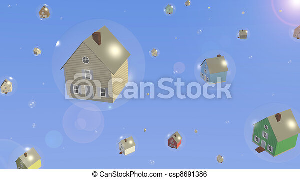 Housing Bubble - csp8691386
