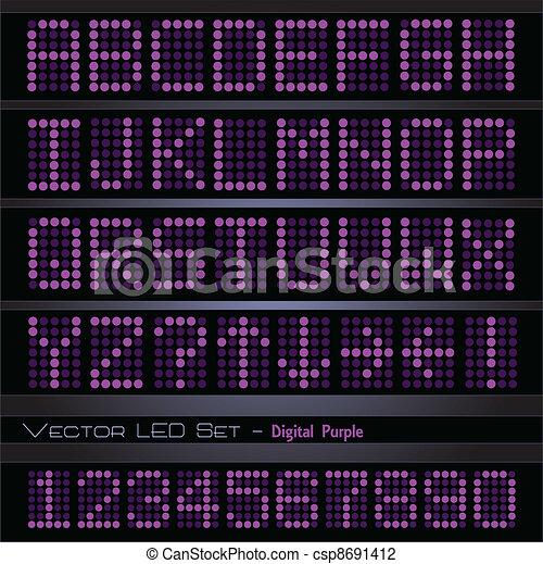 Purple Digital Font - csp8691412