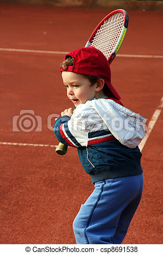 Tennis boy - csp8691538