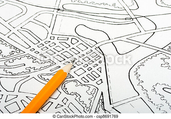 Banque de photographies de plan dessin urbain plan de for Plans de dessins de porche