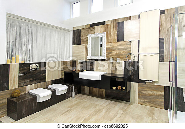 Modern bathroom - csp8692025