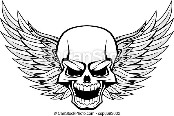 Skull with wings - csp8693082
