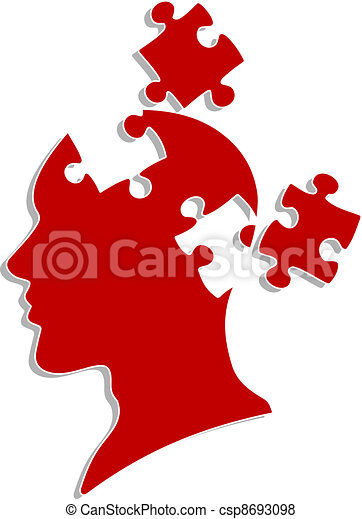 People head with puzzles - csp8693098