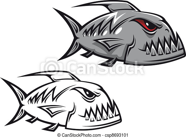 Danger piranha - csp8693101