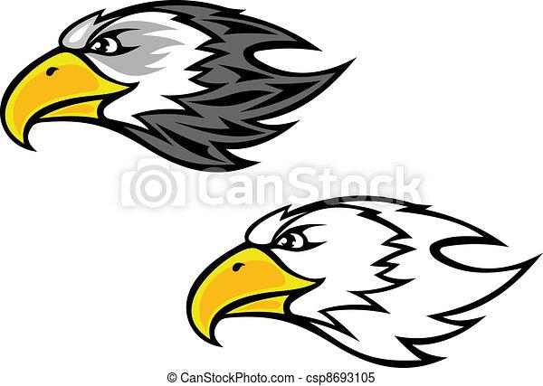Falcon mascot - csp8693105
