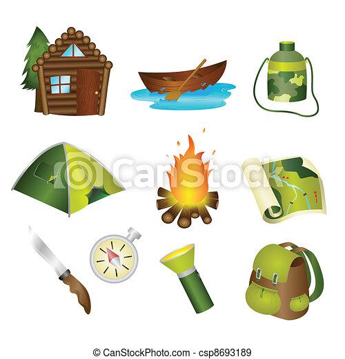 Camping icons - csp8693189