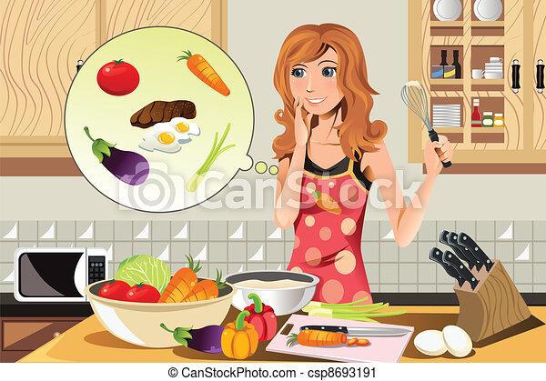 Cooking woman - csp8693191