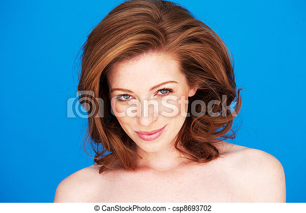 Woman With Gentle Smile - csp8693702