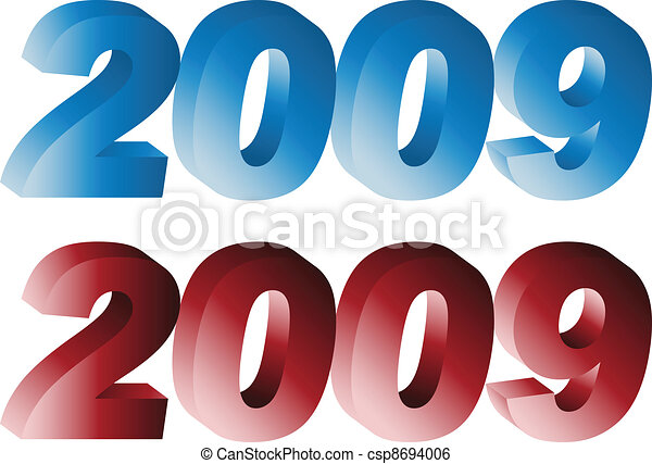 Clip Art Vector of 3d number 2009 csp8694006 - Search Clipart ...