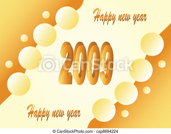 EPS Vector of beer - new year 2009 csp8694224 - Search Clip Art ...