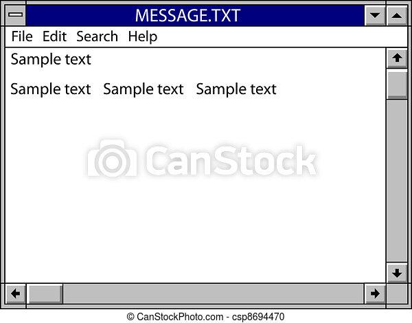 nostalgic window message - csp8694470