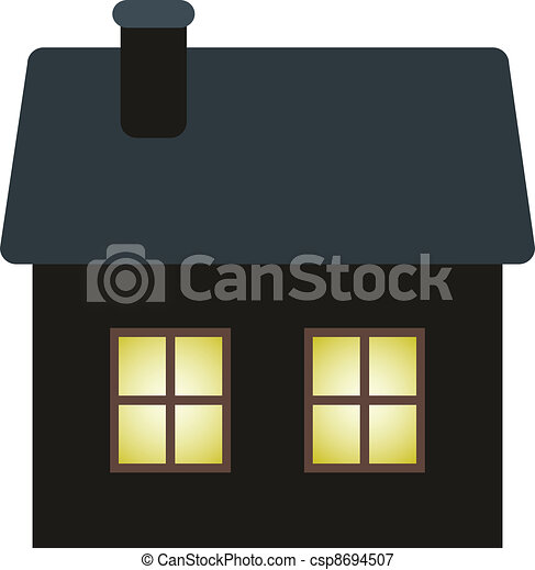 dark cottage - csp8694507