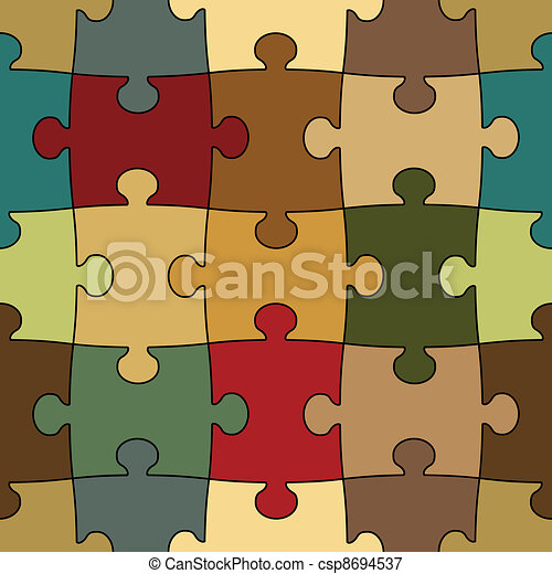 seamless puzzle - easy change color - csp8694537