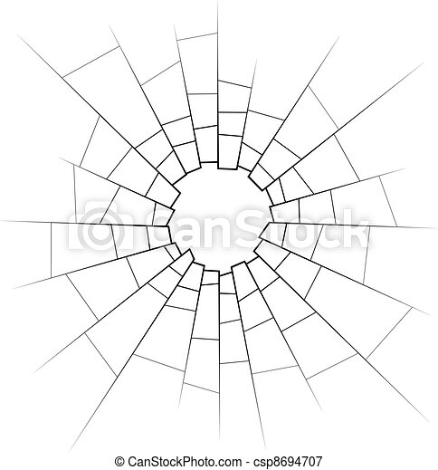 Cracked Glass Drawing Vector Broken Glass