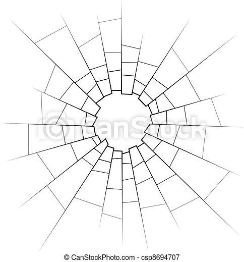broken glass - csp8694707