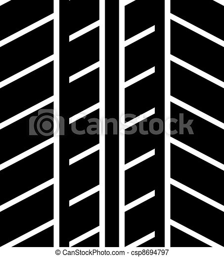 seamless trace of the tyre - csp8694797