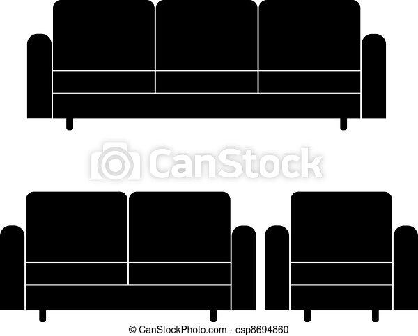 Sessel clipart  Vektor Clipart von sofas, vektor, sessel - vektor, sofas, und ...