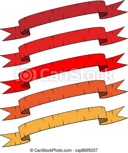 vector damaged ribbons - csp8695037