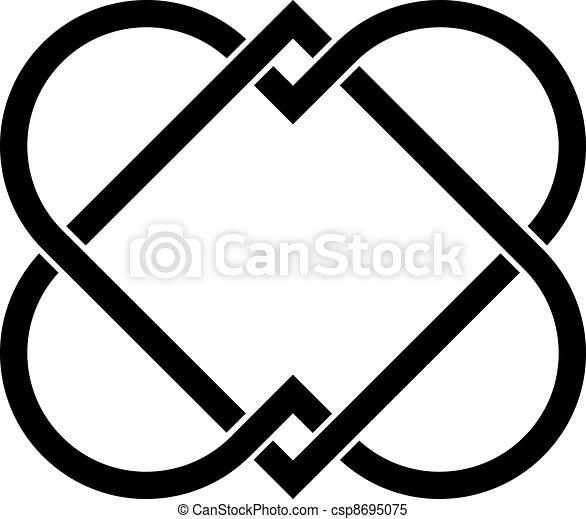 vector linked hearts - csp8695075