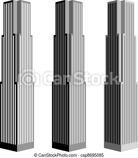 vector skyscraper symbols - csp8695085