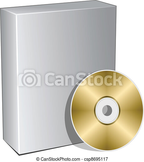 vector 3d box with compact disc - csp8695117