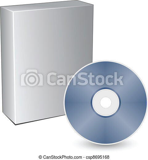 vector 3d box with compact disc - csp8695168