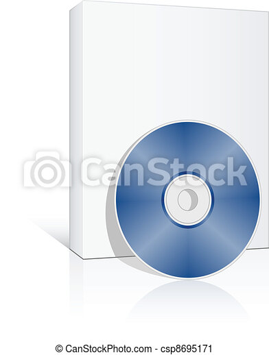 vector 3d box with compact disc - csp8695171