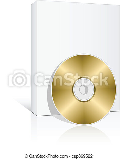 vector 3d box with compact disc - csp8695221