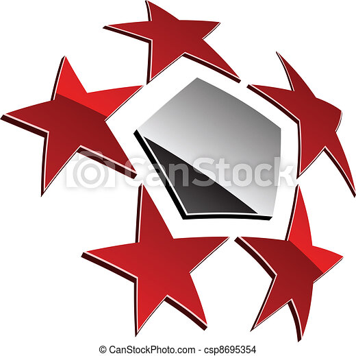 vector 3d shiny element - csp8695354