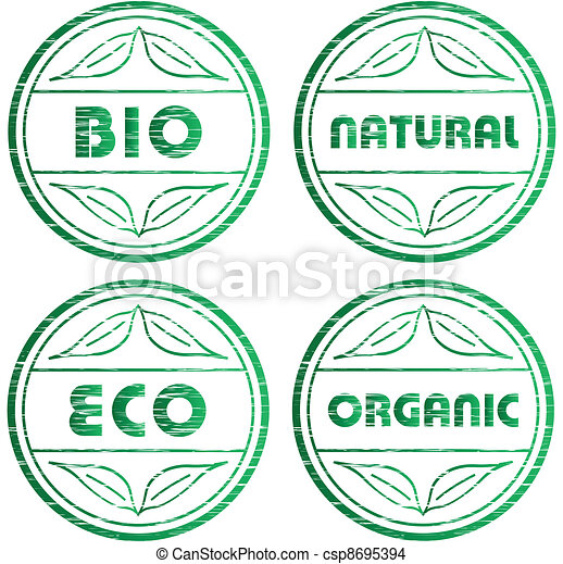 vector scratched eco stamps - csp8695394