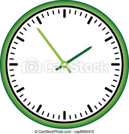 vector clock face - easy change time - csp8695410