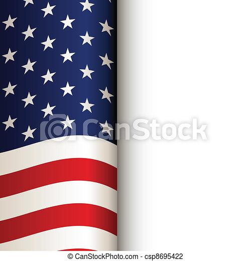 vector USA flag - csp8695422