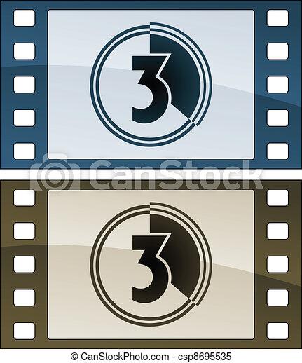 vector film strips - csp8695535