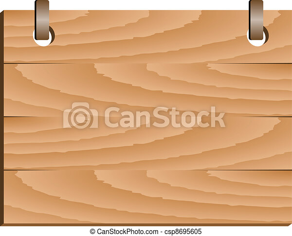 vector wooden sign - csp8695605