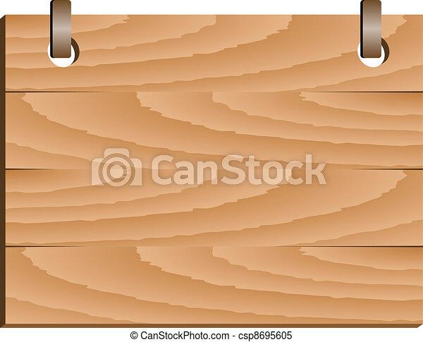 vector wooden sign - csp8695605