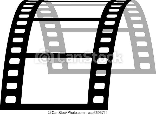 vector 3d film strip - csp8695711