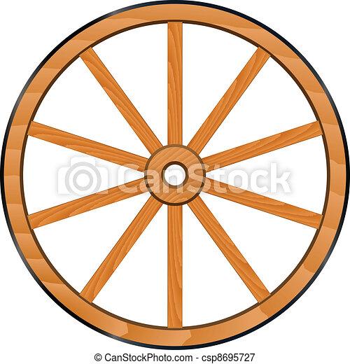 illustrations vectoris u00e9es de bois  roue  vecteur  vieux Wagon Wheel Clip Art Black and White covered wagon wheel clip art