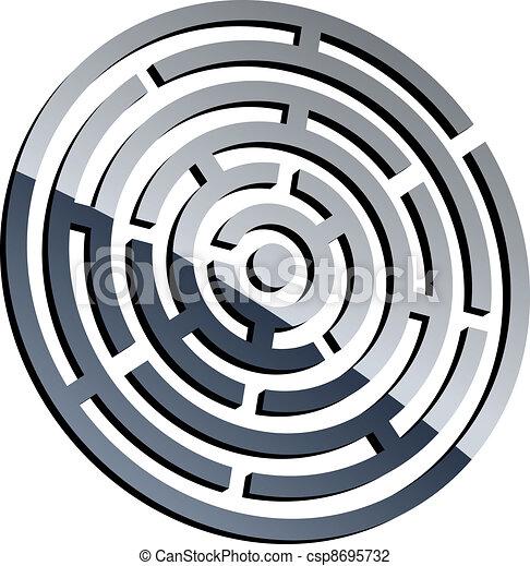 vector 3d shiny maze - csp8695732