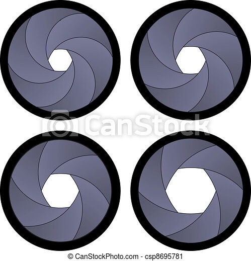 vector camera shutter apertures - csp8695781