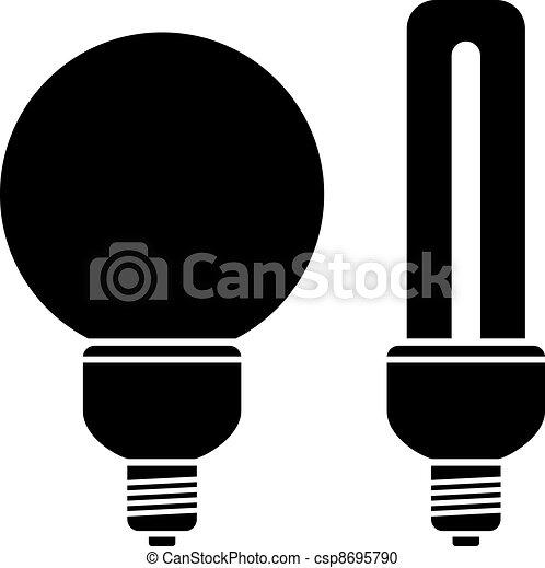 vector fluorescent compact bulbs - csp8695790