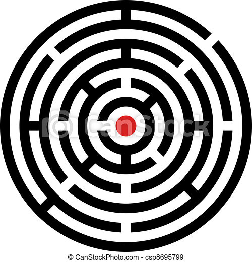 vector rounded maze - csp8695799