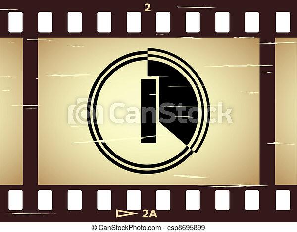 vector scratched film strip - csp8695899
