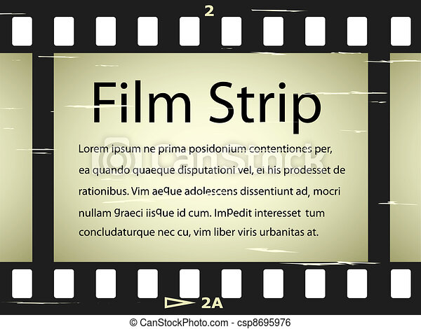 vector scratched film strip - csp8695976