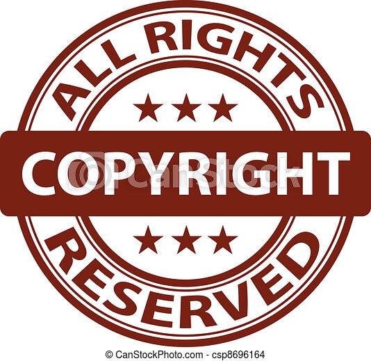 vector pure copyright stamp - csp8696164