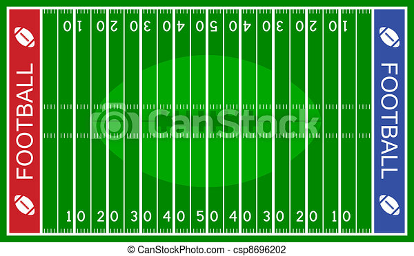 vector american football field - csp8696202