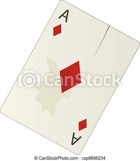 vector damaged ace - csp8696234
