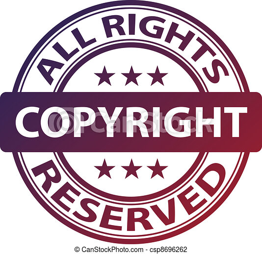 vector pure copyright stamp - csp8696262